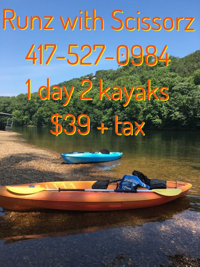 Rent 2 Kayaks for 2 DAYS for only $39 !!
